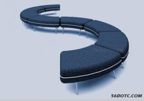 S型沙发【无插件】建模教程