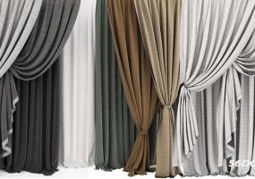 SketchUp窗帘模型下载