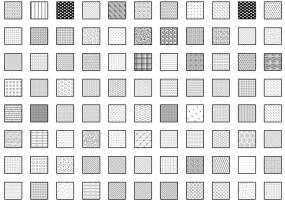 110个SketchUp LayOut剖面填充图案免费下载