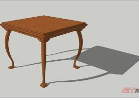 造型桌SU建模教程-无插件系列