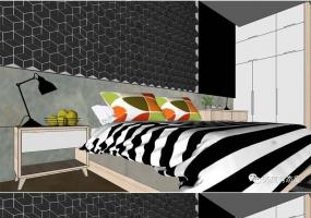 SketchUp卧室模型+V-Ray参数