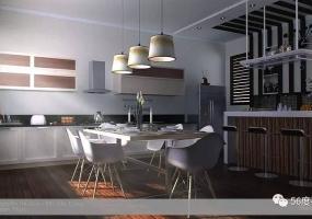 SketchUp餐厅精细模型+V-Ray2.0参数