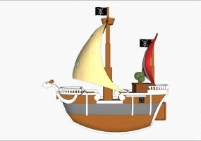 SketchUp模型-黄金梅丽号