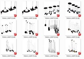 9套SketchUp精品灯具模型