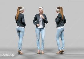 3D女孩人物SketchUp草图大师模型001