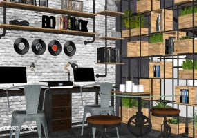 OFFICE办公空间SketchUp场景+VFS3.4