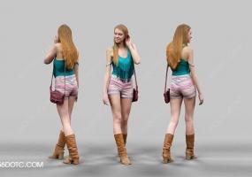 3D女孩人物SketchUp草图大师模型003