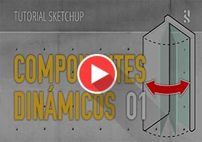 SkethcUp动态组件教程(可开启的门)