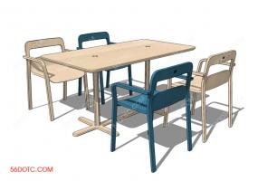 PLAFORMA品牌桌椅SketchUp 草图大师模型001