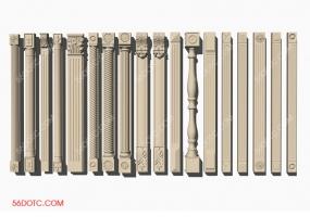 欧式罗马柱子SketchUp草图大师模型