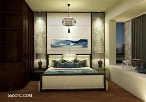 新中式家装整体SketchUp草图大师模型