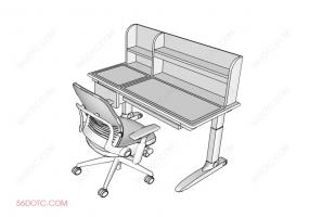 品牌学习桌椅-SketchUp草图大师模型