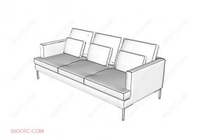 SOFA沙发系列001 SketchUp草图大师模型