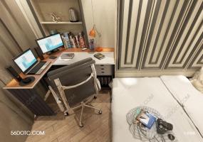 20世纪20平米老房改公寓-SketchUp草图大师模型