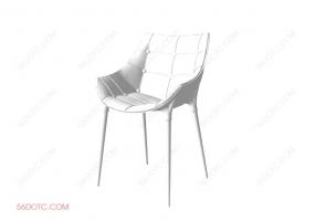 单椅系列004-SketchUp草图大师模型