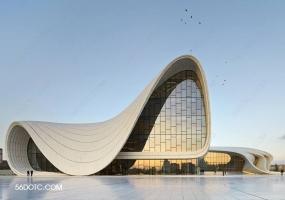 阿塞拜疆阿利耶夫文化中心-扎哈·哈迪德-SketchUp草图大师模型
