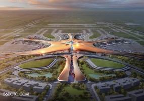 北京大兴国际机场-扎哈·哈迪德-SketchUp草图大师模型