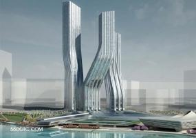 迪拜舞蹈大厦-扎哈·哈迪德-SketchUp草图大师模型
