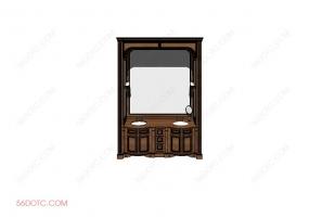 洗手台0065-SketchUp草图大师模型