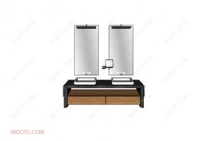 洗手台0066-SketchUp草图大师模型