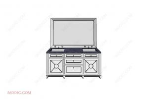 洗手台0068-SketchUp草图大师模型