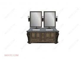 洗手台0069-SketchUp草图大师模型