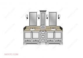 洗手台0070-SketchUp草图大师模型