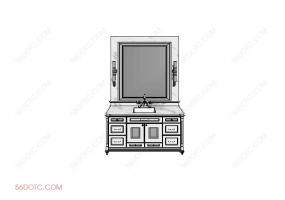 洗手台0071-SketchUp草图大师模型