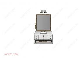 洗手台0072-SketchUp草图大师模型