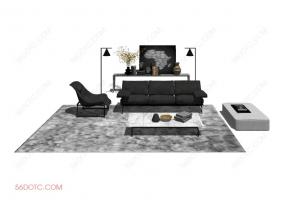 客厅整体软装0058-SketchUp草图大师模型