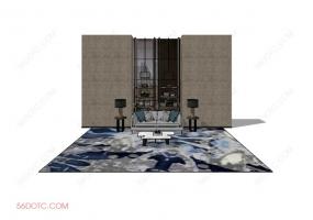 客厅整体软装0060-SketchUp草图大师模型