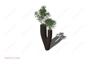 植物00015-SketchUp草图大师模型