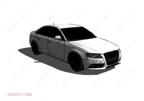 汽车0001-SketchUp草图大师模型