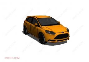 汽车0004-SketchUp草图大师模型
