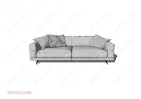 沙发0001-SketchUp草图大师模型