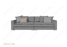 沙发0003-SketchUp草图大师模型