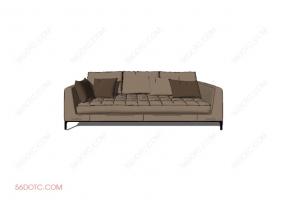 沙发0006-SketchUp草图大师模型