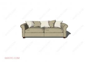 沙发0007-SketchUp草图大师模型