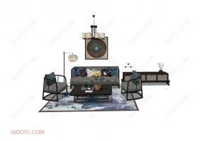 客厅整体软装0071-SketchUp草图大师模型