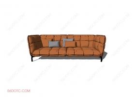 沙发0009-SketchUp草图大师模型