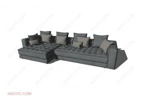 沙发00015-SketchUp草图大师模型