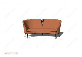 沙发00018-SketchUp草图大师模型