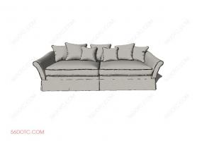 沙发00019-SketchUp草图大师模型