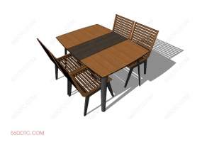 桌椅组合00010-SketchUp草图大师模型