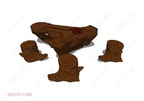 桌椅组合00020-SketchUp草图大师模型