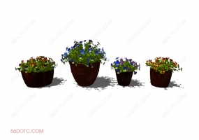 植物000180-SketchUp草图大师模型