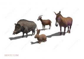 动物0009-SketchUp草图大师模型
