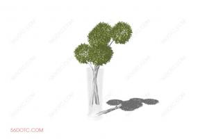 植物000235-SketchUp草图大师模型