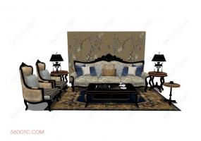 客厅整体软装00112-SketchUp草图大师模型