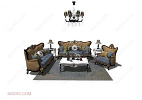 客厅整体软装00113-SketchUp草图大师模型